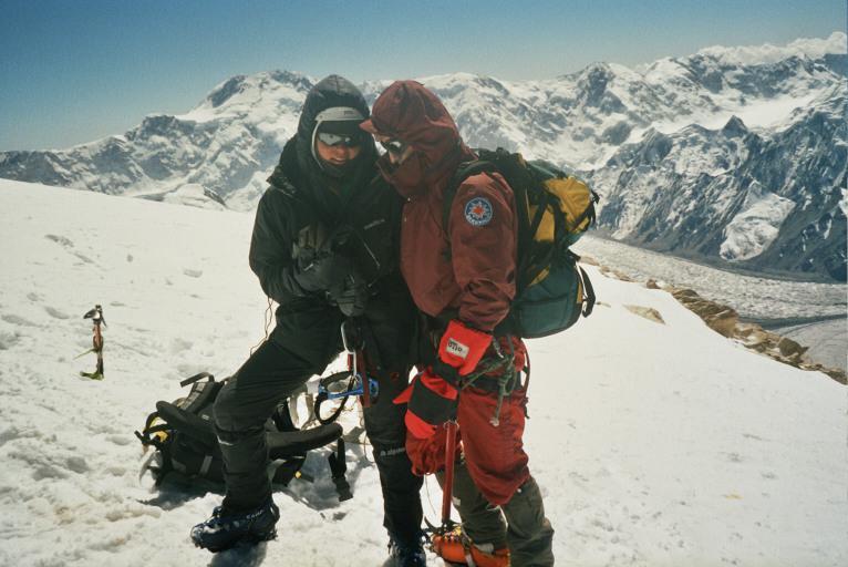 ja i Theo na szczycie