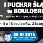 I Puchar Śląska w boulderingu (Silesia Bouldering Cup)