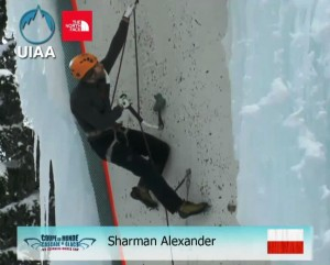Alex Sharman w Champagny (fot. UIAA)