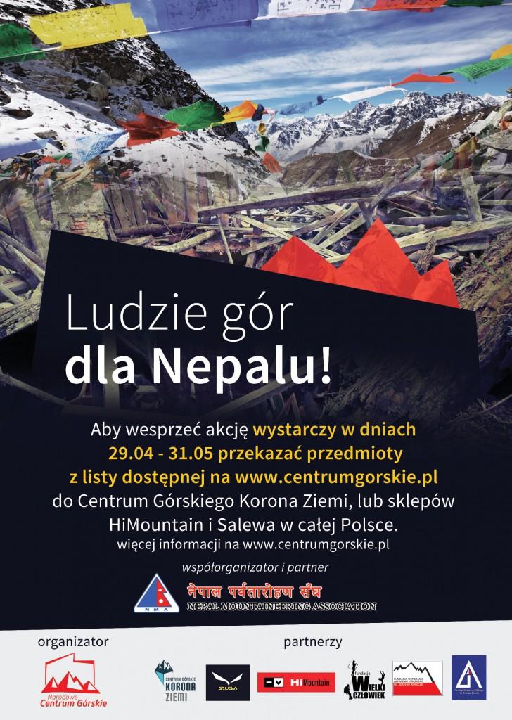 Ludzie Gor dla Nepalu_plakat
