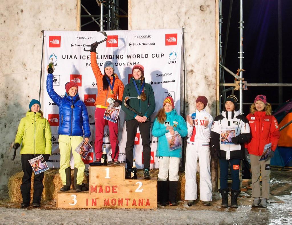Finalistki (fot. Bozeman Ice Climbing Festival)
