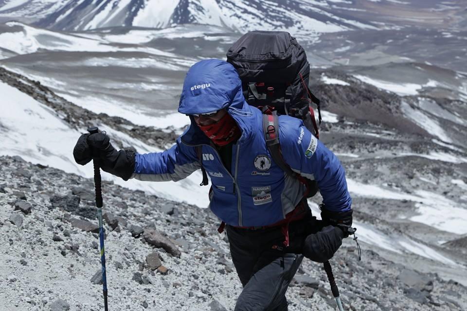 Jacek Czech na wysokości 5500 m npm
