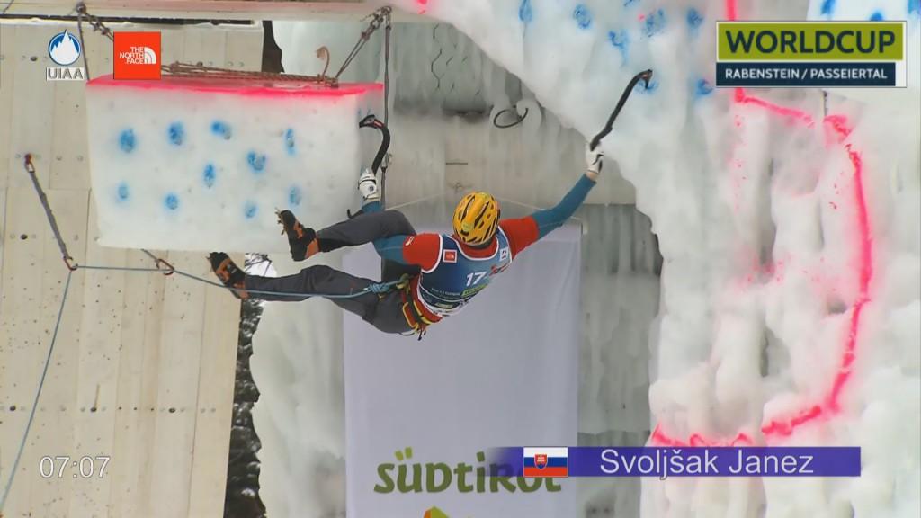 Janez Svoljsak w finale (fot. UIAA)