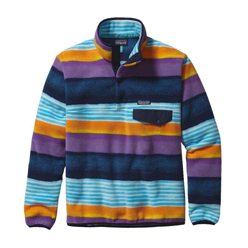 bluza polarowa PATAGONIA Lighweight SynchillaR Snap-TR Fleece Pullover, kolor Painted Fitz Stripe