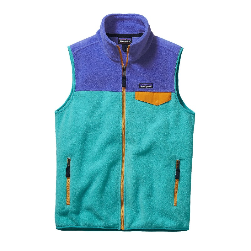 kamizelka polarowa PATAGONIA M's Lighweight SynchillaR Snap-TR Fleece Vest, kolor Howling Turqoise