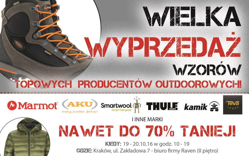 Wyprzedaż wzorów topowych producentów outdoorowych; rabaty do 70%!